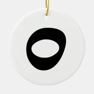 Letter O_large Ceramic Ornament