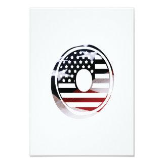 Letter O Monogram Initial Patriotic USA Flag Card