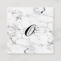 Letter O monogram Marble texture Enclosure Card