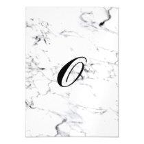 Letter O monogram Marble texture Magnetic Invitation