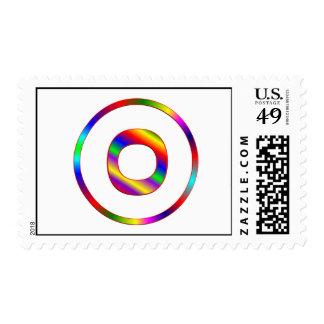 Letter O Rainbow Postage