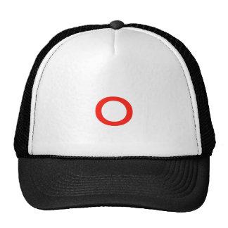 Letter o trucker hat