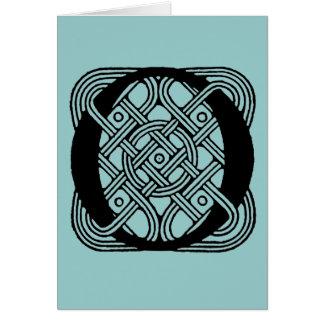 Letter O Vintage Celtic Knot Monogram Card