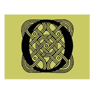 Letter O Vintage Celtic Knot Monogram Postcard
