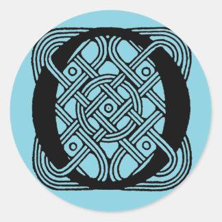 Letter O Vintage Celtic Knot Monogram Classic Round Sticker