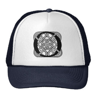 Letter O Vintage Celtic Knot Monogram Trucker Hat