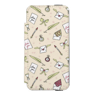 Letter of love envelopes with wings bows clocks pe incipio watson™ iPhone 5 wallet case