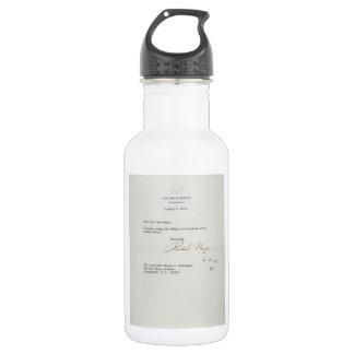 Letter of Resignation of Richard M. Nixon 1974 Stainless Steel Water Bottle