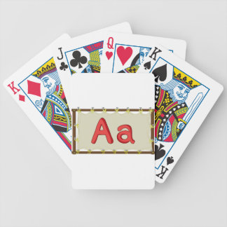 Letter of the alphabet bicycle playing cards
