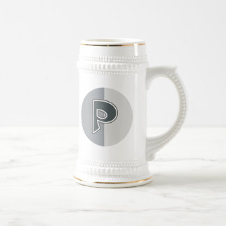 Letter P Beer Stein