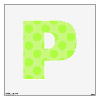 letter P cute kawaii polka dots shabby chic medium Wall Sticker