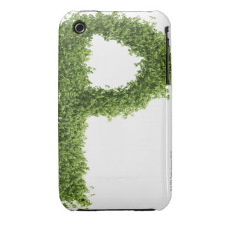 Letter 'P' in cress on white background, iPhone 3 Case