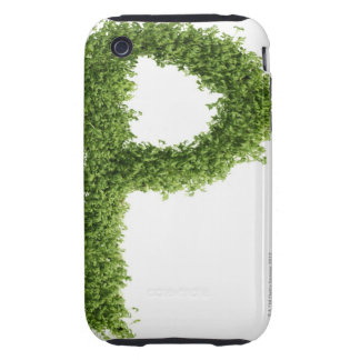 Letter 'P' in cress on white background, Tough iPhone 3 Cases