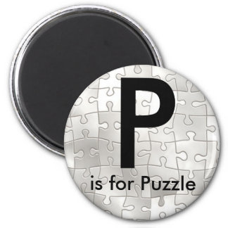 """Letter P"" is for Puzzle Children's Magnets"