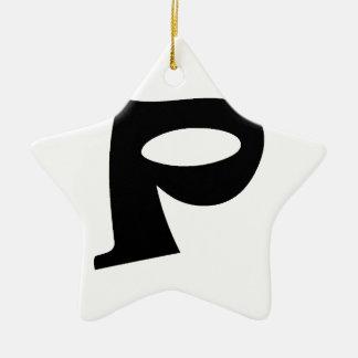 Letter P_large Ceramic Ornament