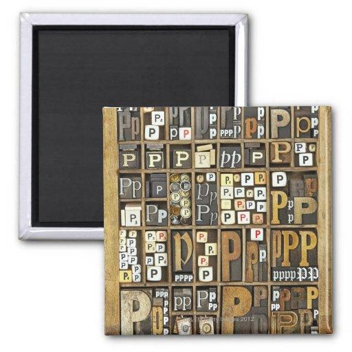 Letter P Magnet