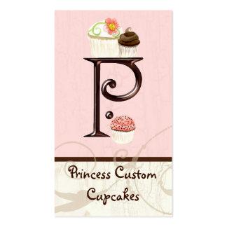Letter P Monogram Dessert Bakery Business Cards