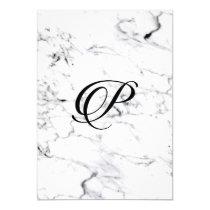 Letter P monogram Marble texture Invitation