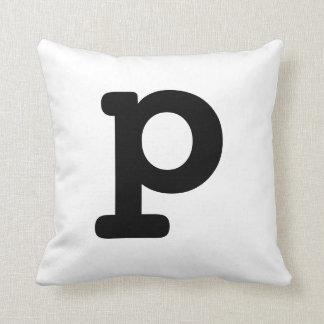 Letter P Throw Pillows