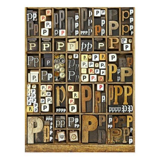 Letter P Postcard