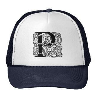 Letter P Vintage Celtic Knot Monogram Trucker Hat
