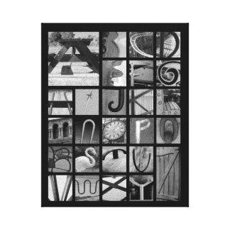 Letter Picture Alphabet Canvas Print