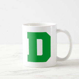 Letter Pride D Green.png Classic White Coffee Mug