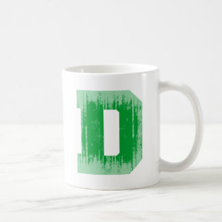 LETTER PRIDE D GREEN VINTAGE.png Classic White Coffee Mug