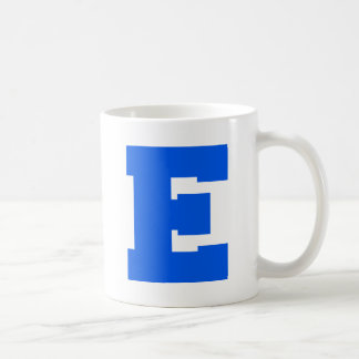 Letter Pride E Blue.png Classic White Coffee Mug