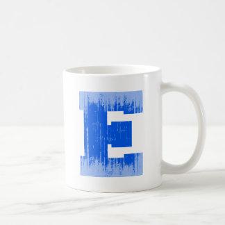 LETTER PRIDE E BLUE VINTAGE.png Classic White Coffee Mug