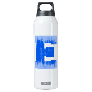 LETTER PRIDE E BLUE VINTAGE.png 16 Oz Insulated SIGG Thermos Water Bottle
