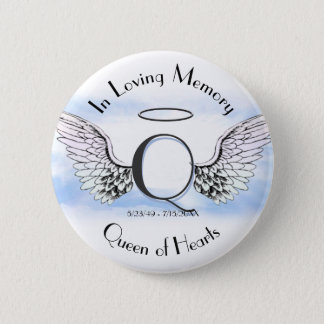 Letter Q | Add Name | Memorial Pinback Button