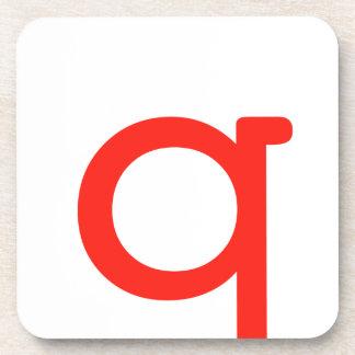 Letter Q Beverage Coaster