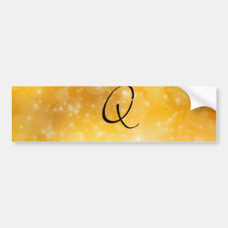 Letter Q Car Bumper Sticker