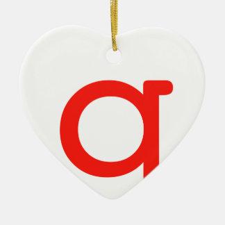 Letter q ceramic ornament