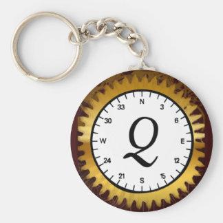 Letter Q Clockwork Keychain