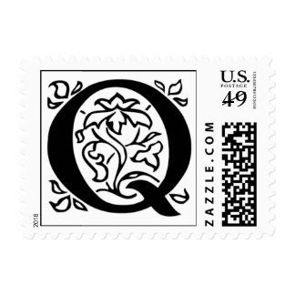 Letter Q Fancy Initial Postage Stamps