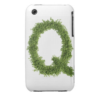 Letter 'Q' in cress on white background, iPhone 3 Covers