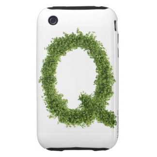 Letter 'Q' in cress on white background, iPhone 3 Tough Cases