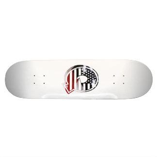 Letter Q Monogram Initial Patriotic USA Flag Skateboard