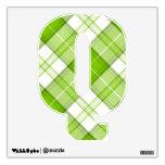 letter Q punk plaid tartan rockabilly vintage emo Wall Stickers
