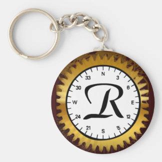 Letter R Clockwork Keychain