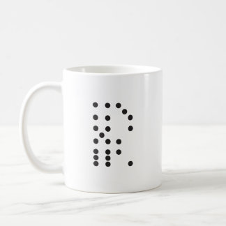 Letter R Dice Classic White Coffee Mug