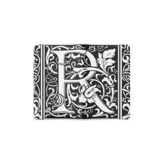 Letter R Medieval Monogram Vintage Initial Pocket Moleskine Notebook