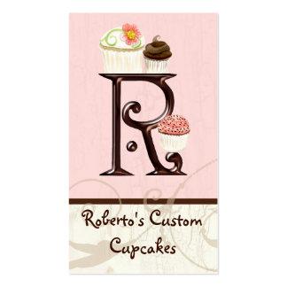Letter R Monogram Dessert Bakery Business Cards
