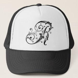 Letter R Monogram Trucker Hat
