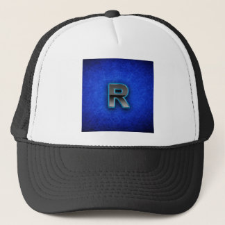 Letter R - neon blue edition Trucker Hat