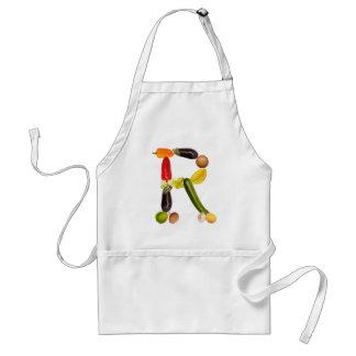 letter R of fruits and vegetables Schürzen