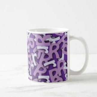 Letter R Purple Coffee Mug