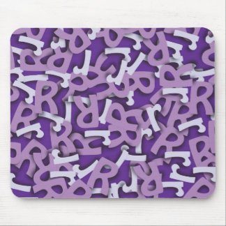 Letter R Purple Mouse Pad